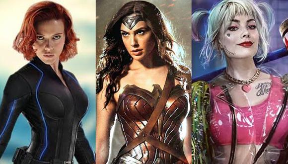 """""""Black Widow"""", """"Wonder Woman 1984"""" y """"Birds of Prey"""". (Foto: Difusión)"""