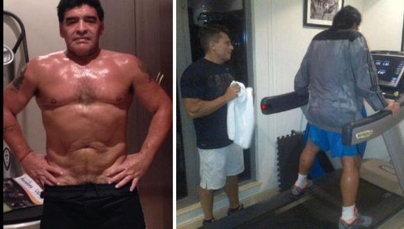 Maradona luce su mejorado físico en una foto en redes sociales