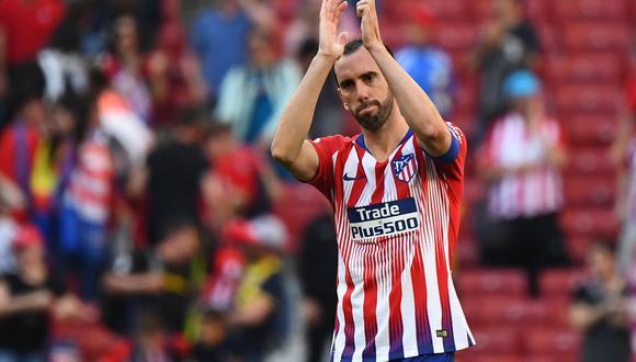 Diego Godín se despidió del Atlético de Madrid luego de nueve años.  El centra uruguayo no llegó a un acuerdo con la dirigencia 'colchonera' para continuar la próxima temporada. (Foto: AFP)