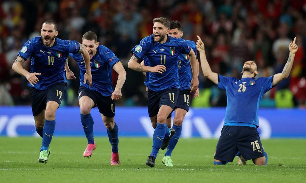 Italia vs. España: las imágenes del partido en el Wembley Stadium   Foto: REUTERS