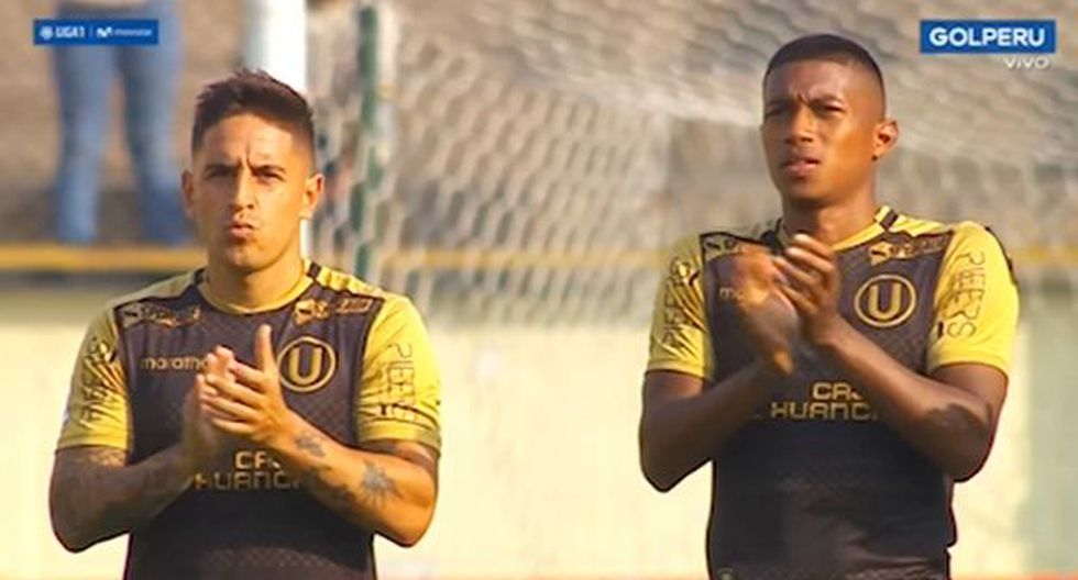 Universitario vs. Municipal EN VIVO: hinchas cremas dedicaron minuto de aplausos en honor a 'Lolo' | VIDEO. (Video: Gol Perú / Foto: Captura de pantalla)