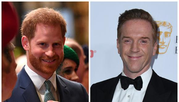 El príncipe Harry reveló que le gustaría que el actor Damian Lewis lo interpretara en la serie 'The Crown' . (Fotos: AFP)