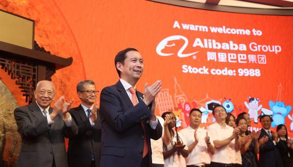 El papel de Alibaba cerró en 187.60 dólares de Hong Kong (US$ 23.96. El precio de oferta fue 176 dólares de Hong Kong). (Foto: Reuters)