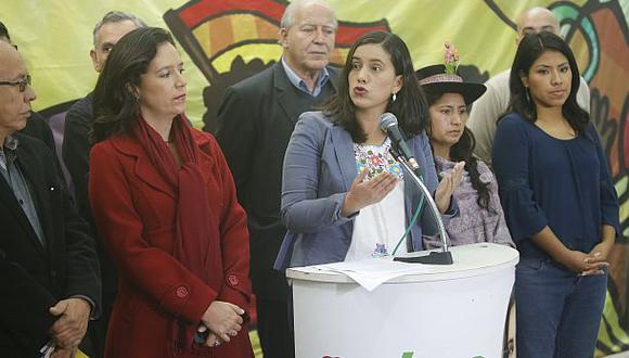 """La facción del Frente Amplio cercana a Verónika Mendoza solicitó la recomposición de la Comisión Lava Jato, """"a fin de que no se melle más la confianza que la ciudadanía espera"""" de ese grupo. (F"""
