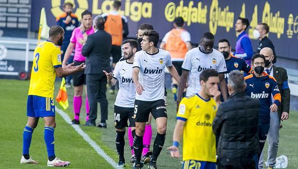 Valencia regresó al campo para enfrentar a Cádiz tras insulto racista sobre Diakhaby. (Foto: Valenciact.com)