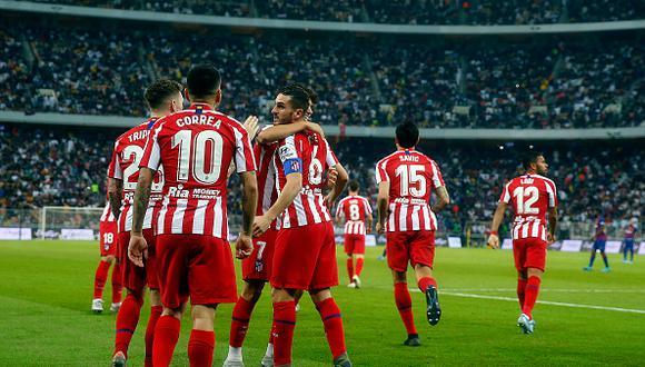 Atlético de Madrid venció a Barcelona y disputará el título de la Supercopa de España. (Getty)