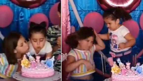 La escena en la que la niña le jala el cabello a su hermana dio la vuelta al mundo. (Foto: @porkestendencia / Twitter)