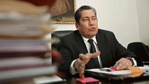"""Eloy Espinosa-Saldaña, magistrado del TC, consideró que con la resolución de la Corte IDH """"nadie es despojado de sus competencias ni pierde poder"""". (Foto: USI)"""