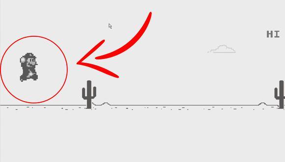 ¡Cambia a T-Rex por Mario Bros! Usa este increíble truco de Google Chrome y hazlo tú mismo. (Foto: YouTube / El Profe Jorge)