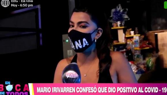 Ivana Yturbe envía mensaje de aliento a Mario Irivarren tras saber que dio positivo a COVID-19 (Foto: captura video)