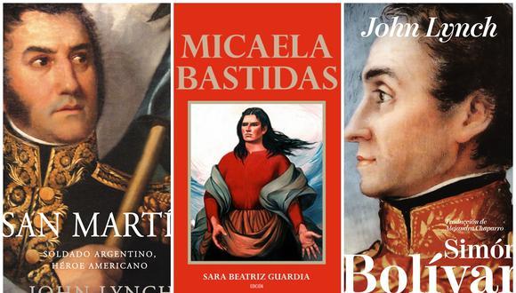 Bibliografías, novelas y antologías de ensayos en torno a algunas de las figuras más importantes de la Independencia del Perú. (Fuente: Editorial Crítica/Sara Beatriz Guardia)