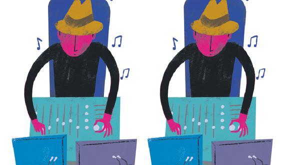 La figura del productor musical (Ilustración: Víctor Aguilar)