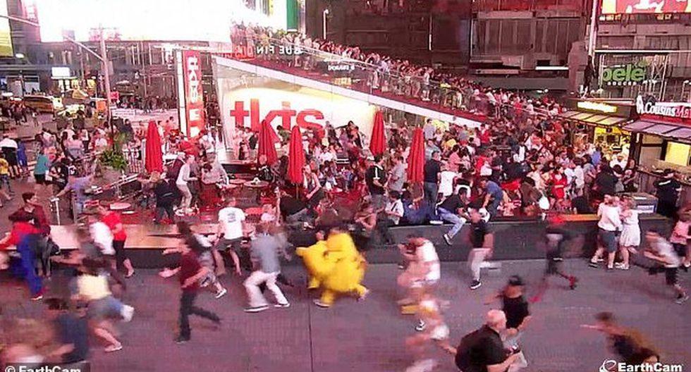 Pánico en Times Square: confunden sonido de motos con un tiroteo.