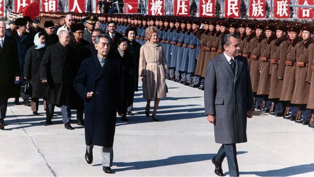 Nixon se convirtió en el primer presidente en ejercicio de Estados Unidos en visitar China. (GETTY IMAGES)