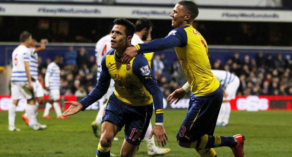 Arsenal venció 2-1 de visita al QPR por la Premier League