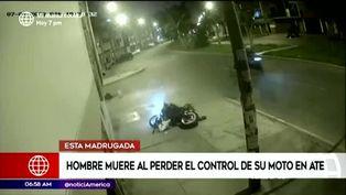 Muere un hombre de 42 años al perder el control de su moto en Ate
