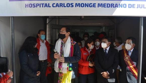 El presidente viajó a la región Puno para la inauguración del nuevo centro dedicado a los pacientes de COVID-19. (Foto: Carlos Fernández)