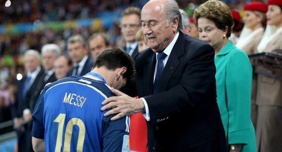 """Blatter: """"Fue incorrecto"""" darle el Balón de Oro a Lionel Messi"""