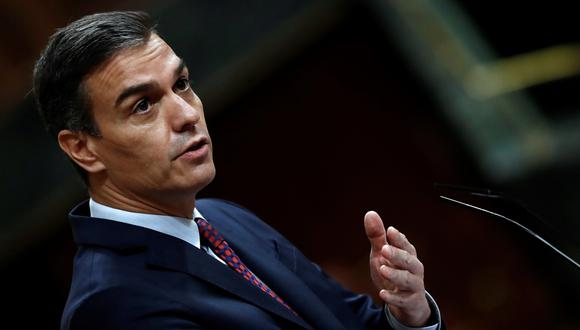 El presidente del gobierno, Pedro Sánchez, ofreció este viernes una declaración sobre la situación sanitaria de España. (EFE/Mariscal).