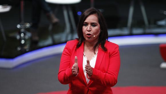 Nidia Vílchez sí pudo inscribir su fórmula presidencial por el Apra. (Foto: Archivo de GEC)