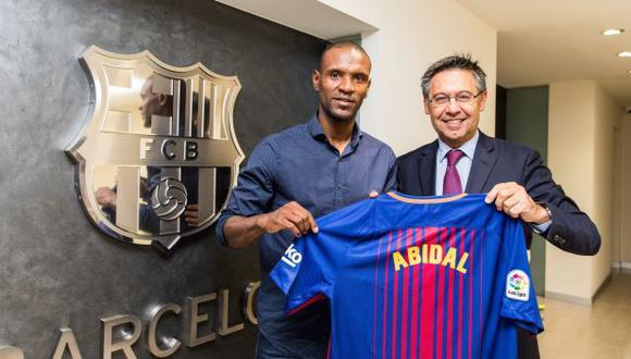 Eric Abidal es secretario técnico del FC Barcelona desde junio del 2018. (Foto: AFP)