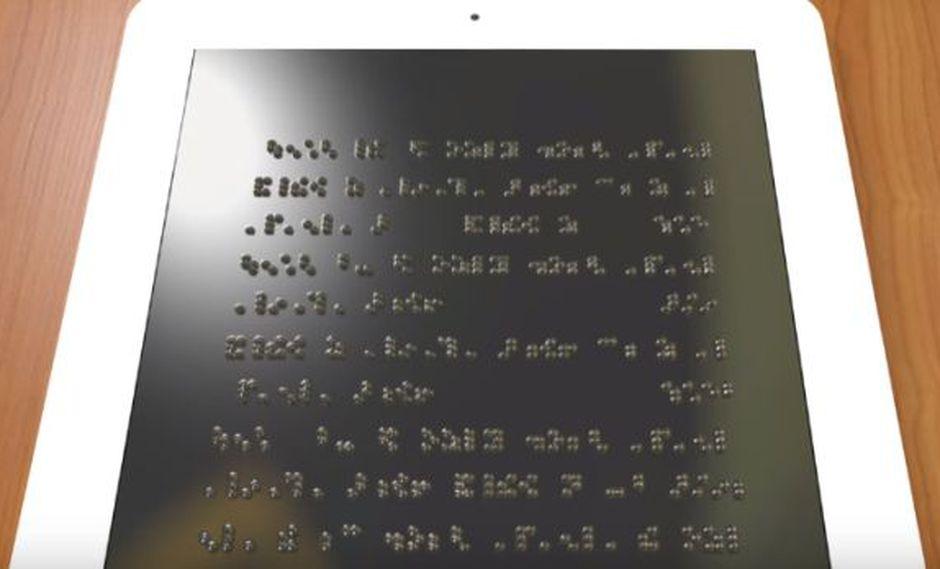 Desarrollan sistema que permite lectura braille en smartphones