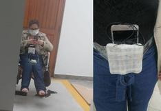 Una mujer atada a una 'bomba': quién es Raquel León, detenida por amenazar con un explosivo falso en una clínica privada en San Isidro