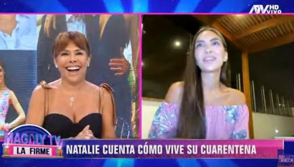 Natalie Vértiz reveló si Yaco Eskenazi siente celos por sus escenas de besos. (Foto: Captura)
