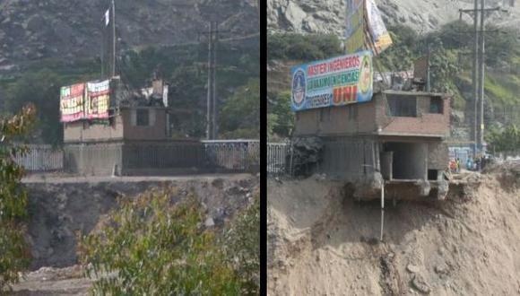 Río Rímac: el antes y después de la casa a punto de colapsar