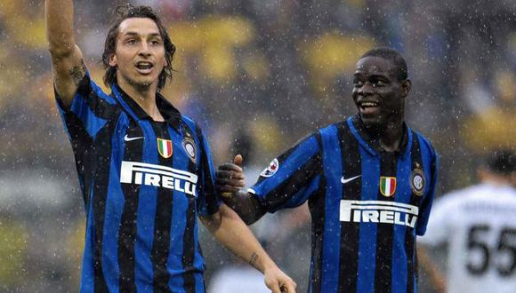 La anécdota de Mario Balotelli con Zlatan Ibrahimovic en el Inter de Milán. (Foto: AFP)