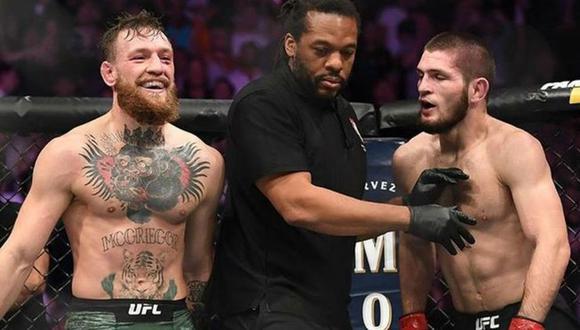 El presidente de la UFC, Dana White, dejó entre ver que Conor McGregor y Khabib Nurmagomedov podrían protagonizar una revancha en los próximos meses (Foto: AFP)