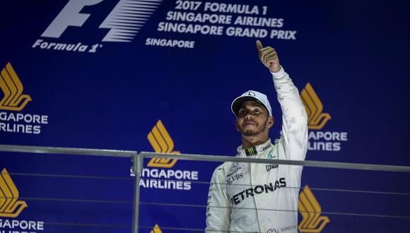 Lewis Hamilton se llevó el Gran Premio de Singapur y aumentó su ventaja en la Fórmual 1. (Foto: EFE)