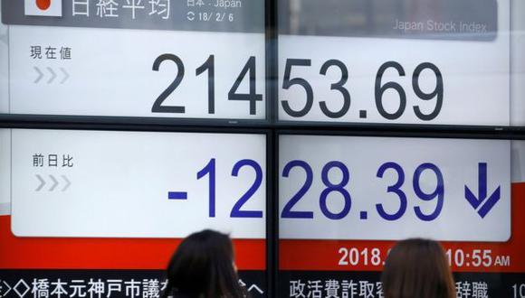 El índice Nikkei 225 llegó a caer en un 7% durante la jornada de este martes, para luego recuperarse levemente. (Reuters)