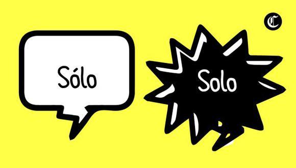 """""""Solo"""", ¿lleva tilde? (Foto: Composición)"""