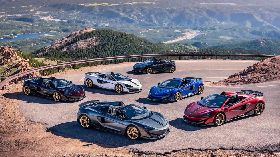 Son 6 ejemplares del McLaren 600LT Spider que forman parte de la edición especial Pikes Peak Collection. (Fotos: McLaren).