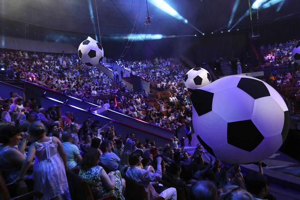 """Durante Rusia 2018, el Gran Circo Estatal de Rusia presentó el espectáculo """"Epicentro del Mundo"""". (Foto: Rolly Reyna)"""