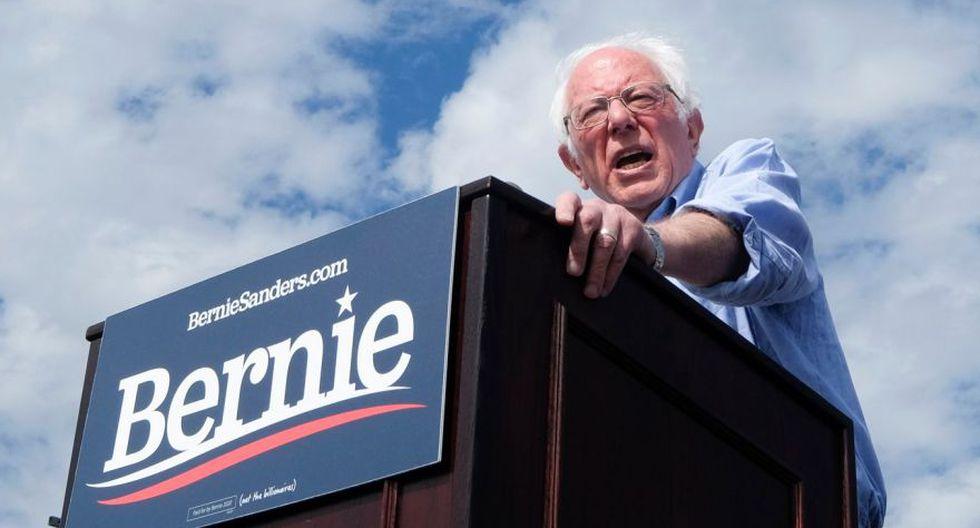 El candidato demócrata a la presidencia de Vermont, el senador Bernie Sanders, en un mitin en Valley High School en Santa Ana, California