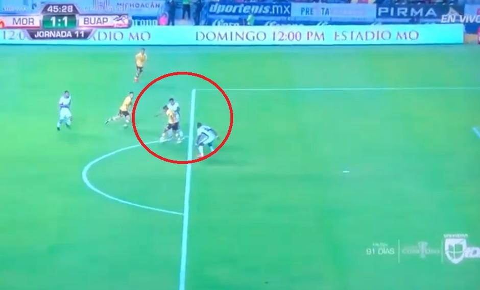 Morelia vs. Lobos BUAP: mira la genial asistencia de Edison Flores para el gol de Sebastián Ferreira | Foto: Captura