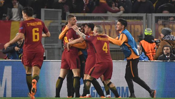 Roma venció 1-0 al Shakhtar y clasificó a cuartos de final de la Champions League. (Foto. Agencias)