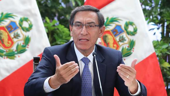 El presidente Martín Vizcarra mantiene un nivel de aprobación por encima del 80% en abril, según el sondeo de El Comercio-Ipsos. (Foto: Andina)