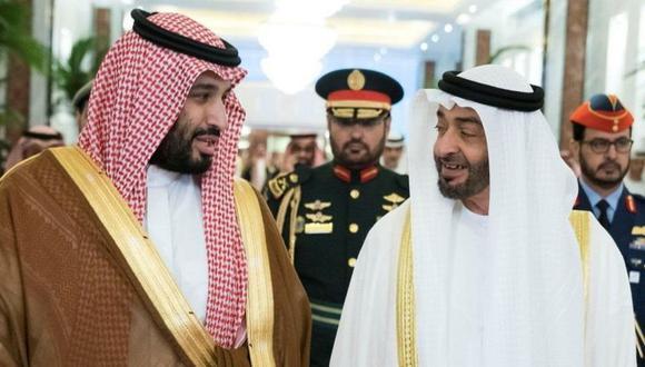 Poco a poco han aparecido grietas en la alianza forjada por los príncipes herederos de Arabia Saudita y Abu Dabi. (Reuters).