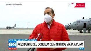 Premier Martos y ministros viajan a Puno para supervisar Operativo Tayta