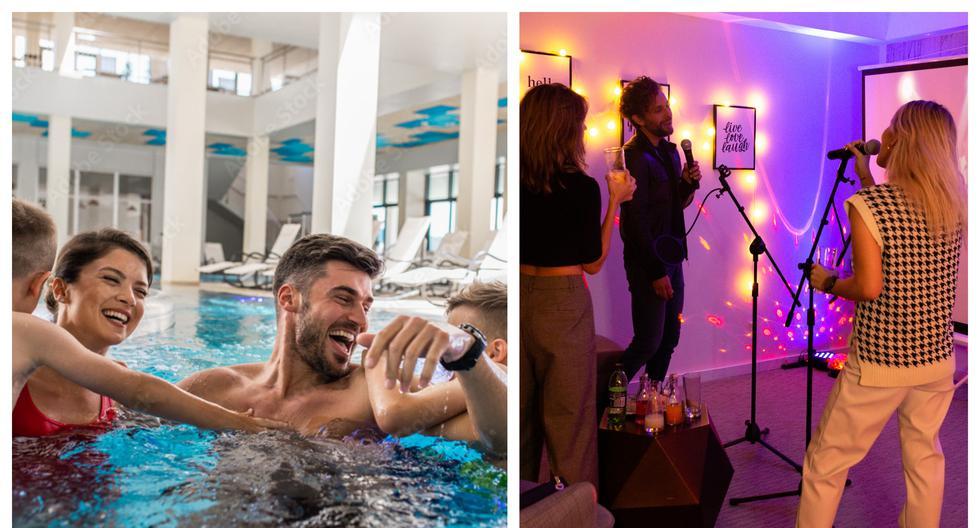 Tardes de piscina (que se usan por grupos y en turnos) o noches de karaoke. Son variadas las propuestas que hoy se ofertan en la capital. (Foto: freepik-Courtyard Lima Miraflores).