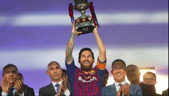 Barcelona recordó los 20 años de Lionel Messi en el club. (Foto: Reuters)