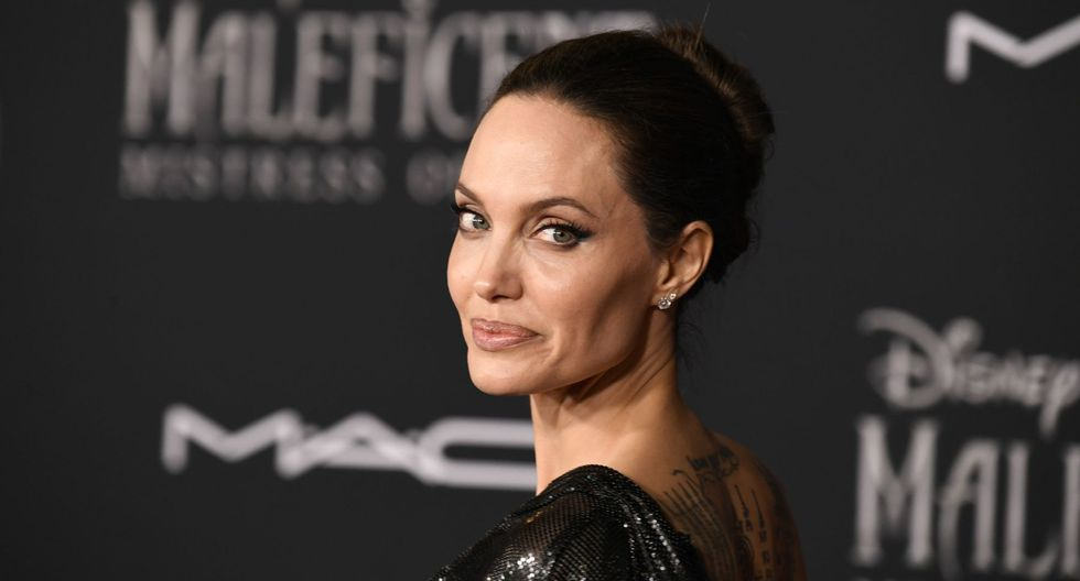 """LOS ANGELES, CALIFORNIA - SEPTEMBER 30: Angelina Jolie attends the World Premiere Of Disney's Maleficent: Mistress Of Evil"""" - Red Carpet at El Capitan Theatre on September 30, 2019 in Los Angeles, California.   Frazer Harrison/Getty Images/AFP == FOR NEWSPAPERS, INTERNET, TELCOS & TELEVISION USE ONLY =="""