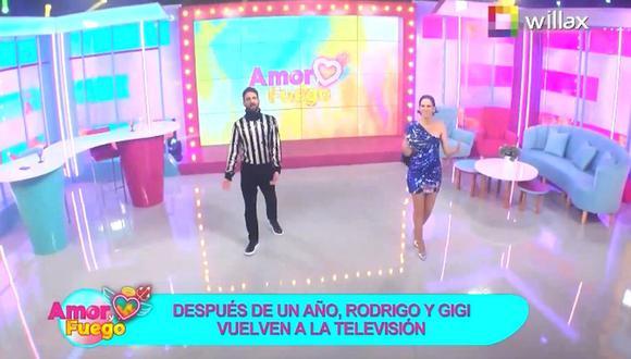"""Así fue el estreno de """"Amor y Fuego"""" con Rodrigo González, 'Peluchín', y Gigi Mitre en Willax TV. (Foto: Captura de video)"""