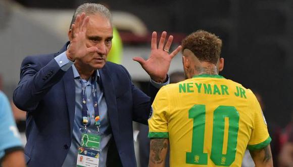 Neymar anotó un gol en la victoria 3-0 de Brasil sobre Venezuela. (Foto: AFP)