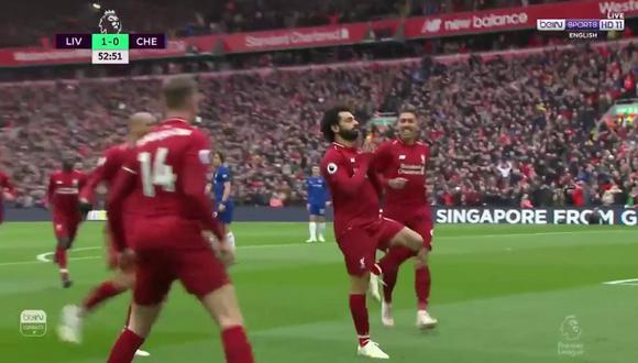 Mohamed Salah, la estrella del Liverpool. (Foto: captura de video)