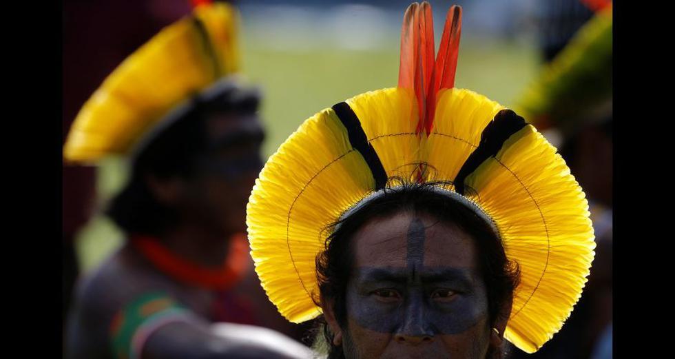 Brasil: Miles de indígenas acampan en Brasilia para protestar contra Jair Bolsonaro. (Reuters).