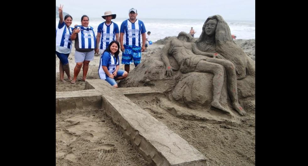 Esculturas se realizaron en playas de Chilca para promover el cuidado de las playas y del ecosistema marino. (Foto: Perú Ecológico / Facebook)